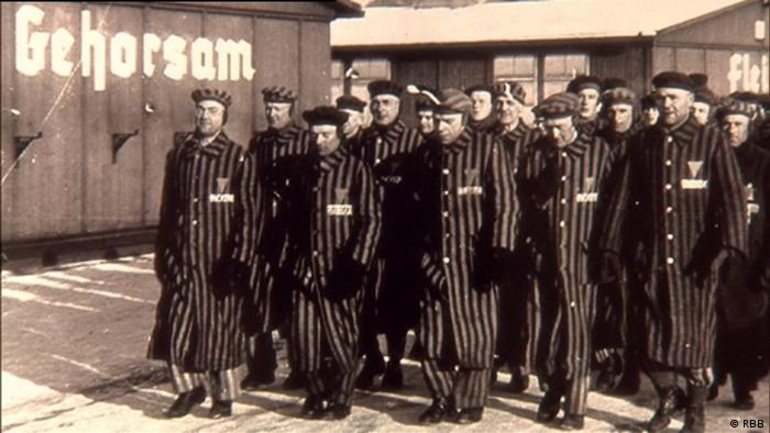 Prisoners at the Sachsenhausen concentration camp