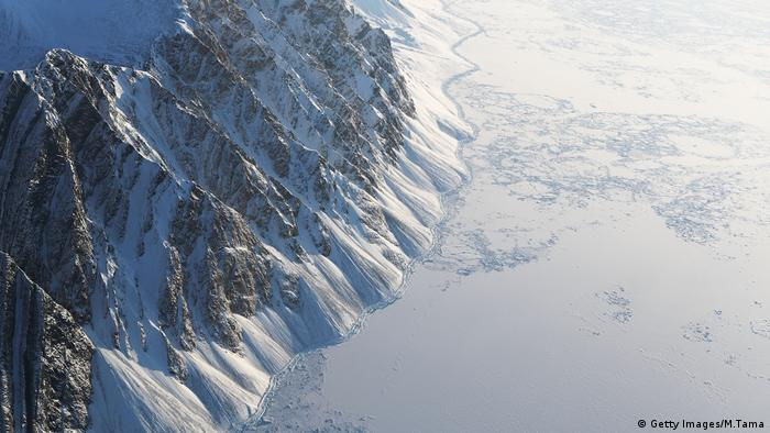 Havsis (R) is seen from NASA's operating aircraft IceBridge on March 29, 2017 above Ellesmere Island, Canada.