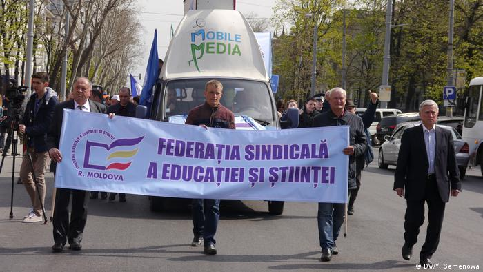 Акция протеста работников образования и науки Молдавии