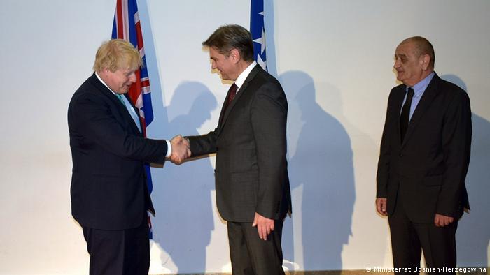 Bosnien-Herzegowina Sarajevo Besuch Boris Johnson (Ministerrat Bosnien-Herzegowina)