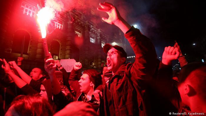 Протести проти Вучича у Белграді