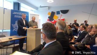 Павло Петренко виступає на відкритті Інституту німецького права