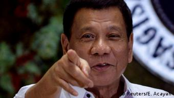 Philippinen Rodrigo Duterte Rede in Manila