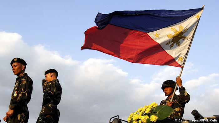 Philippinen Soldaten in Manila (Getty Images/AFP/N. Celis)