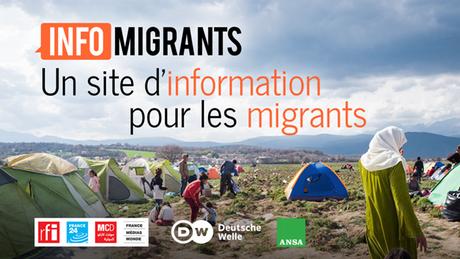 Logo Französisch Plattform Info Migrants