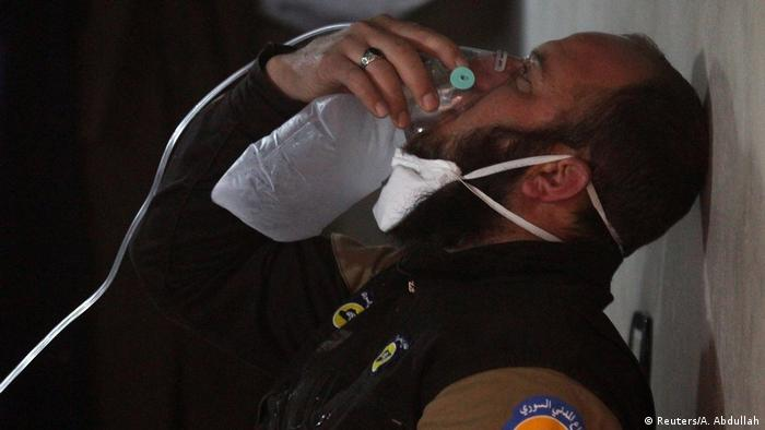 "Russia and Syria counter claims of responsibility for ""gas attack"""