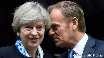 Theresa May & Donald Tusk (Reuters/H. McKay)