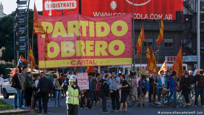Demonstration in Buenos Aires against Macri