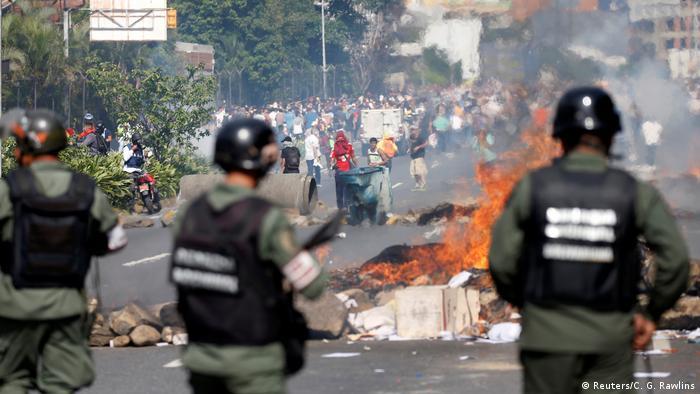 Venezuela Caracas Demonstration gegen Präsident Maduro