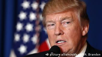 USA Trump zu Angriff in Syrien (picture-alliance/dpa/AP/A. Brandon)