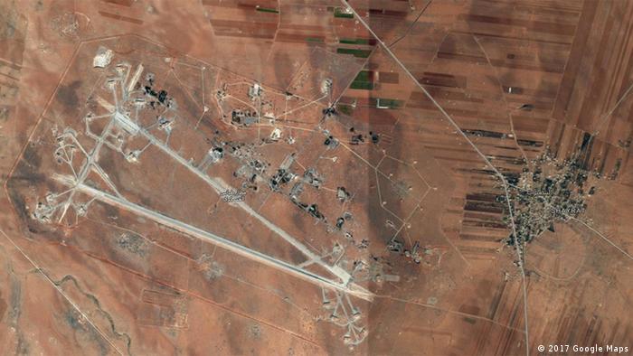 Syrien Luftwaffenbasis Al-Schairat (2017 Google Maps)