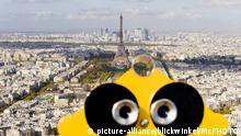 Vista panorâmica de Paris a partir da Torre Montparnasse.