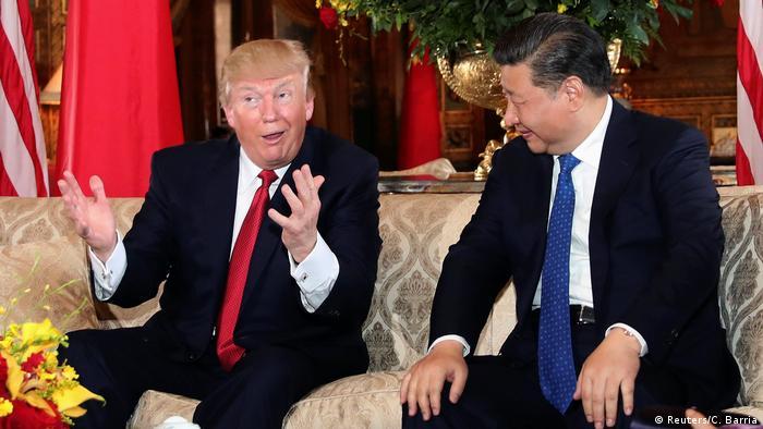 USA Donald Trump und Xi Jinping in Palm Beach (Reuters/C. Barria)