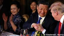 USA Donald Trump und Xi Jinping in Palm Beach