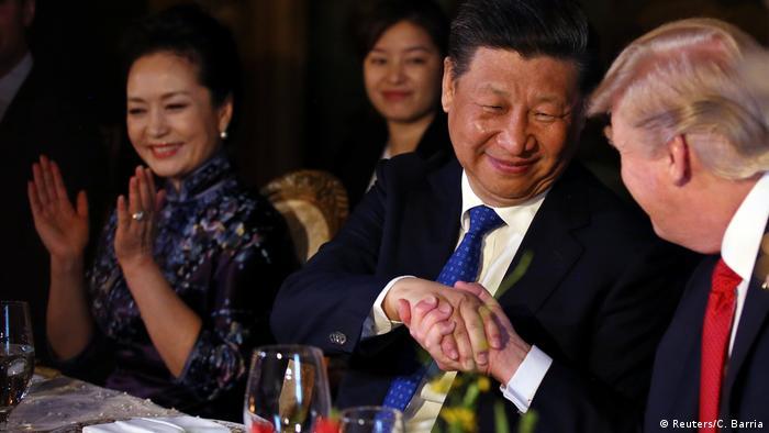 USA Donald Trump und Xi Jinping in Palm Beach