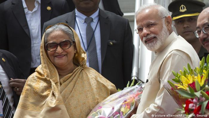 Indien Sheikh Hasina mit Narendra Modi