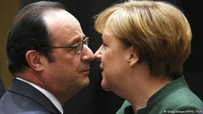 Merkel und Hollande Symbolbild