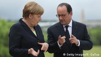 Merkel und Hollande Symbolbild (Getty Images/S. Gallup)