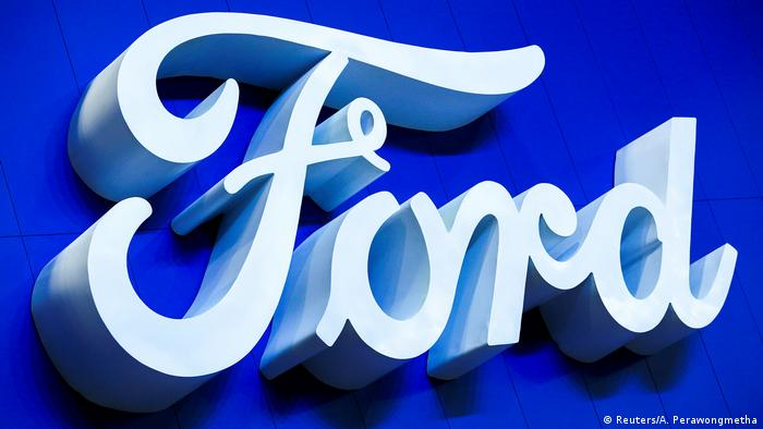 FILE PHOTO: Ford logo is pictured at the 38th Bangkok International Motor Show in Bangkok (Reuters/A. Perawongmetha)