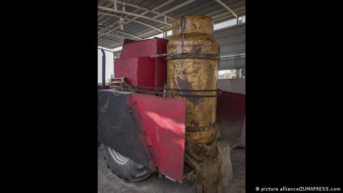 Chemiewaffen Chlorine Gas Bombe IS (picture alliance/ZUMAPRESS.com)