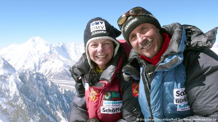 Gerlinde Kaltenbrunner und Ralf Dujmovits