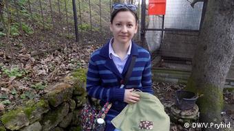 Олена Черепніна замість пластикових пакетів користується такою торбинкою