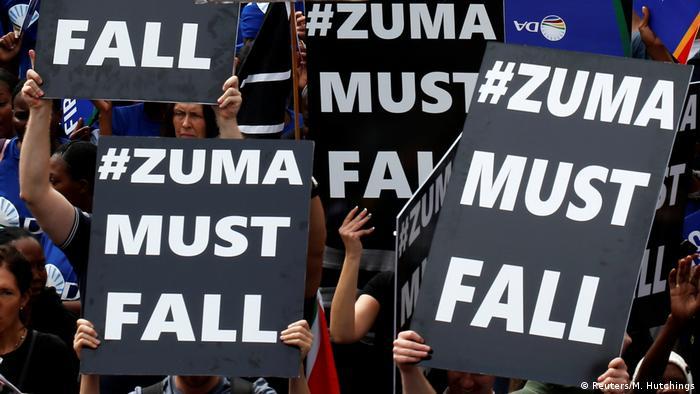 Südafrika Protesten gegen Präsident Jacob Zuma in Johannesburg