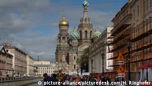Russland St. Petersburg mit Auferstehungskirche