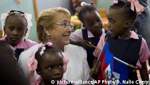 Chile Präsidentin Michelle Bachelet in Haiti