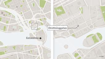 Infografik Sweden Drottninggatan Stockholm Karte POR