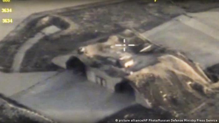 Syrien US-Angriff auf Luftwaffenbasis Al-Schairat (picture alliance/AP Photo/Russian Defense Ministry Press Service)