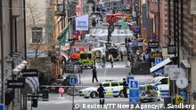 Schweden Stockholm LKW fährt in Menschenmenge