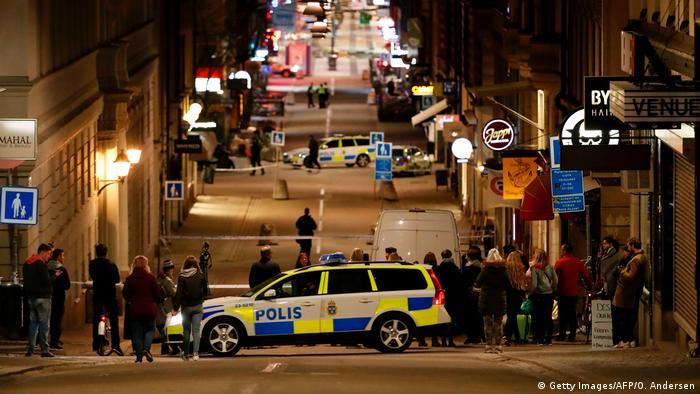 Parte do centro de Estocolmo foi isolada em decorrência do incidente (Getty Images/AFP/O. Andersen)