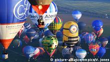 England Weltrekordversuch Massenstart Heißluftballons