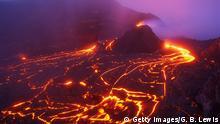 Leuchtende Lavaströme Hawaii Kilauea