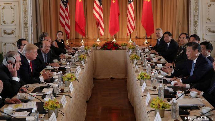 Treffen Donald Trump und Xi Jinping (Reuters/C. Barria)