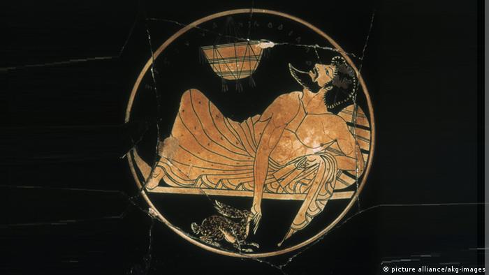 Pintura griega en jarrón
