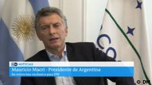 Still DW-Interview mit Mauricio Macri