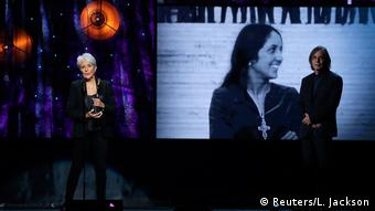 New York Rock & Roll Hall of Fame Hall of Fame Aufnahme Joan Baez (Reuters/L. Jackson)