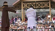 Indonesien Prügelstrafe in der Provinz Aceh