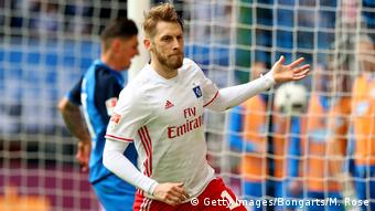 HSV-Stürmer Aaron Hunt jubelt. Foto: Getty Images