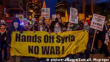 New York Proteste gegen US-Syrien Angriff