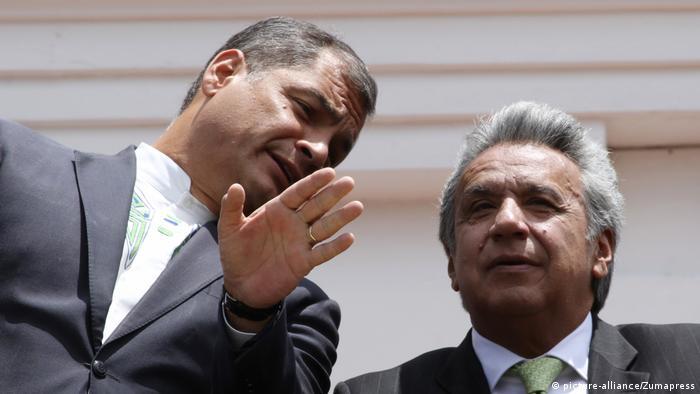 Ecuador Präsident Correa und Lenin Moreno (picture-alliance/Zumapress)