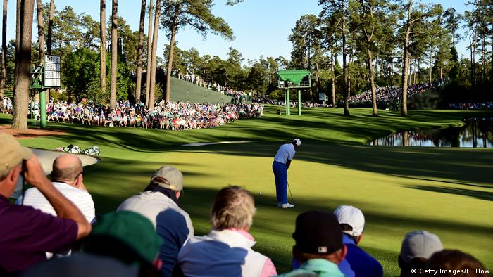 Golfsport The Masters Runde Drei Rickie Fowler (Getty Images/H. How)