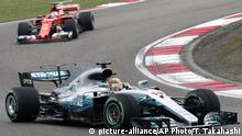 Formel 1 Grand Prix China Hamilton Vettel