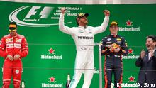 Formel 1 Gand Prix China Siegerpodest