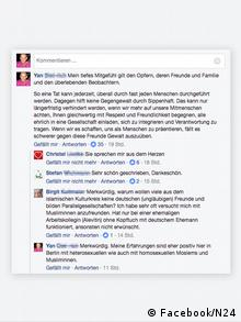 Screenshot Facebook #ichbinhier