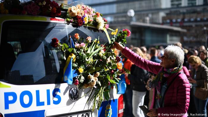 Schweden - Stockholm nach dem Anschlag