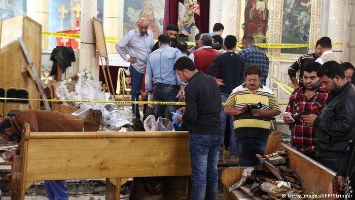 Tanta attack Coptic Christian survey, Palm Sunday (Getty Images / AFP / Stringer)