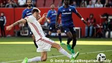 INGOLSTADT, GERMANY - APRIL 09: Pascal Gross of Ingolstadt scores his team's first goal during the Bundesliga match between FC Ingolstadt 04 and SV Darmstadt 98 at Audi Sportpark on April 9, 2017 in Ingolstadt, Germany. (Photo by Adam Pretty/Bongarts/Getty Images)